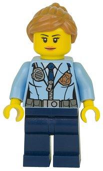 Lego, Figurine, Police, Policewoman