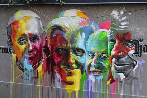 Murals, Pope Pope Paul Vi, Pope Benedict Xvi, Pope John