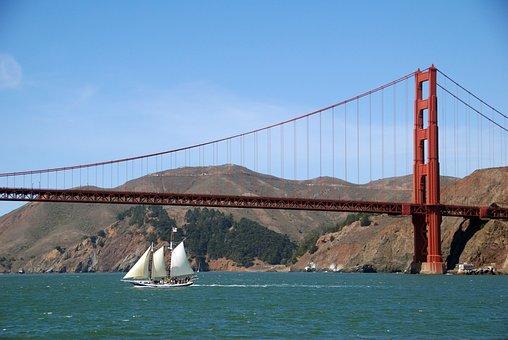 San Francisco, Bridge, United States, Usa, California