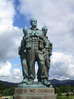 Commando, Scotland, Memorial, Scottish, Statue