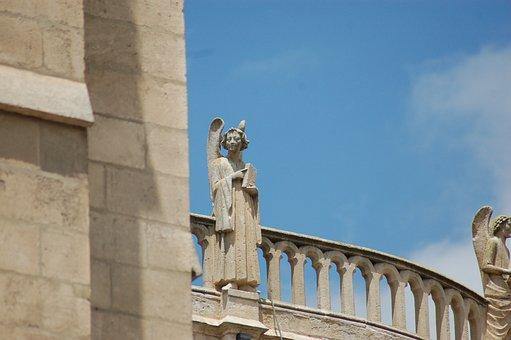 Angel, Architecture, Sculpture, Gothic