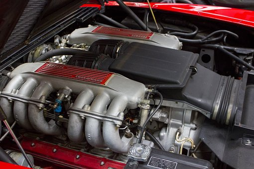 Motor, Head, Car, Ferrari, Redhead, Auto, Vehicle