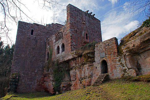 Ruin, Castle, History, Sandstone, Wasenbourg, Alsase