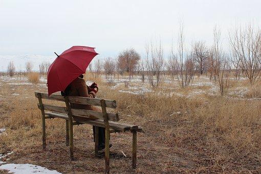 Umbrella, Loneliness, Winter, Kayseri, Develi