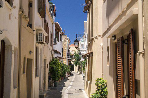 Alley, Greece, Crowded, Buildings, Stone-built House