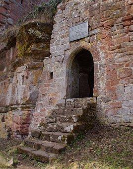Ruin, Castle, Sandstone, Architecture, Alsace, France