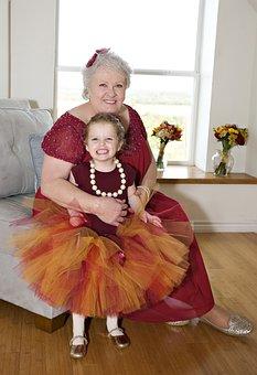 Grandmother With Granddaughter, Celebration