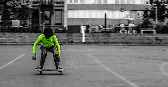 Boy, On, Skate, Skateboard, Jump, Child, Kid, Childhood