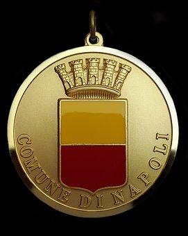 Order, Award, Gold, Coin, Badge, City, Comune Di Napoli