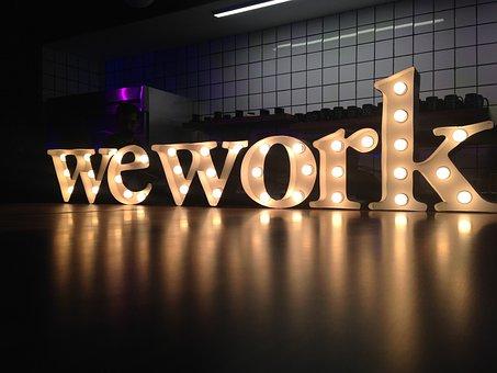 We Work, Work, Coworking, Lights, Light, Liz