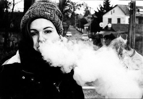 Vape, Girl, Vaping, Young, Electronic, Cigarette