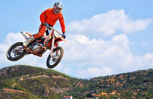 Motocross Rider, Jump, Dirt Bike, Biker, Extreme Sports