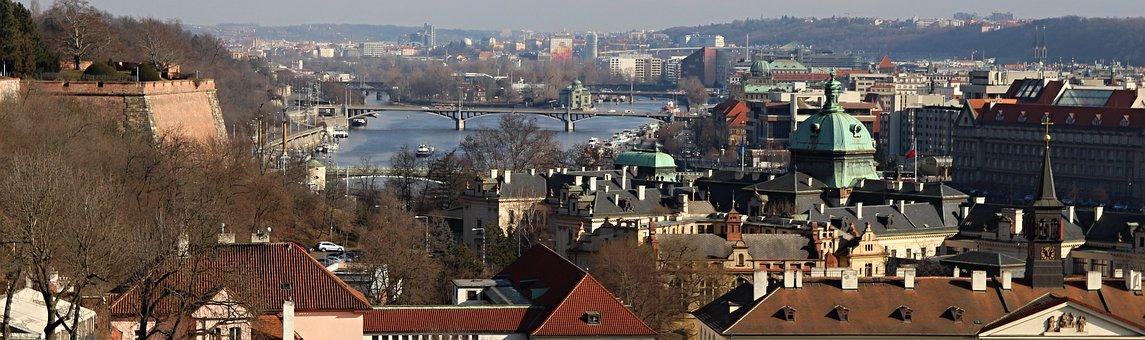 Prague, From Above, Czech Republic, Heaven, Vltava