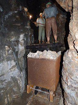 Mine, Gallery, Excavation, Galena, Wagon, Ore