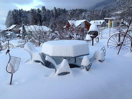 Winter, Gartenart, Snow