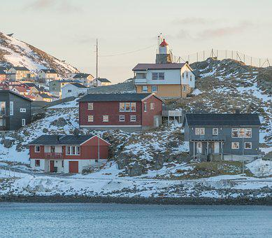 Norway, Mountain, Honningsvag, Coast, Architecture