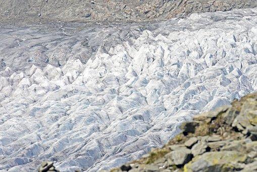 Switzerland, Aletsch Glacier, Bottleneck, Ice Pressure