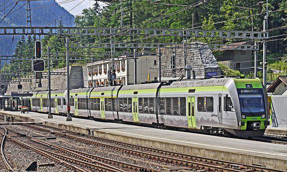 Switzerland, Lötschberg, Railway Station, Goppenstein