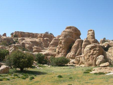Jordan, Dalana, National Park, Meadow, Mountains