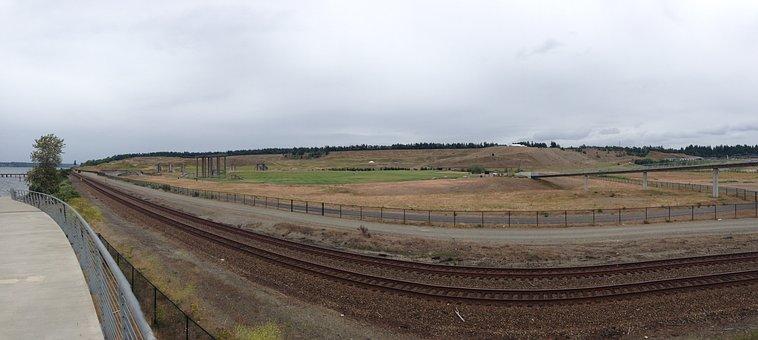 Panorama, Train Tracks, Railway, Track, Train