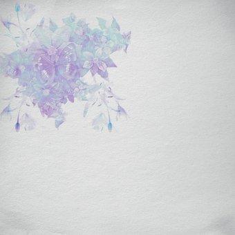 Scrapbook, Paper, Color, Grunch, Vintage, Flowers