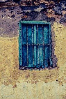 Cyprus, Paralimni, Old House, Abandoned, Window, Aged