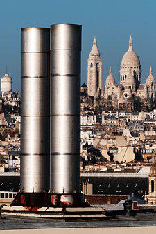 Paris, Roofs, Fireplaces, Tourism