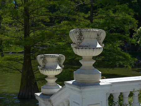 Vase, Park, Trees, Water, Pond, Green, Forest, Outdoor