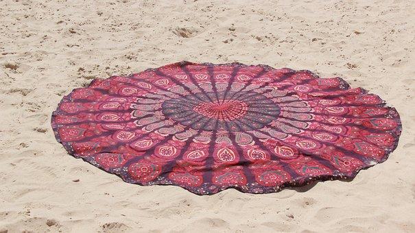 Beach, Blanket, Sea