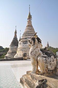 Stupa, Pagoda, Burma, Myanmar, Temple, Temple Complex