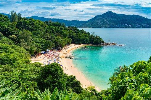 Beach, People, Tropical, Thailand, Phuket, Vacation