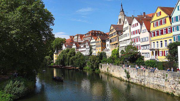 Tübingen, Neckar, Hölderlin, River, Historic Center