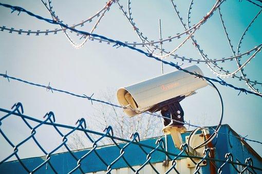 Barbed Wire, Video Camera, Monitoring, Recording, Spy