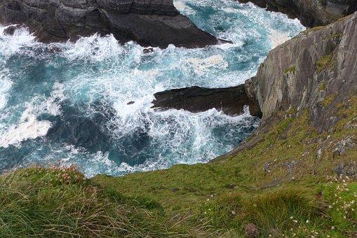 Cliffs, Cliffs Of Kerry, Ireland, Water, Coast, Nature