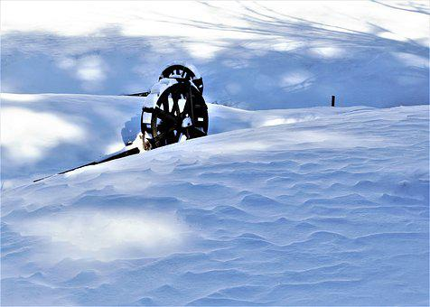 Snow, Water Wheel, Winter, White, Cold, Weather, Frozen
