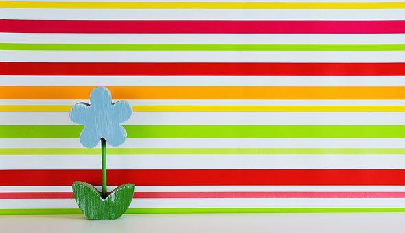 Flower, Wood, Colorful, Background, Striped, Floral
