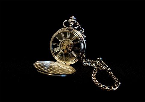 Clock, Pocket Watch, Old, Silver, Time, Nostalgia