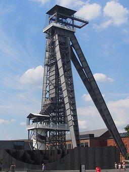 Shaft, Coal, Industry, Heritage