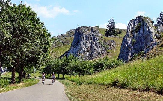 Eselsburg Valley, Bike Ride, Rock