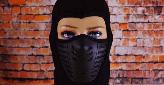 Ski Mask, Eyes, Woman, Headwear, Cap, Doll