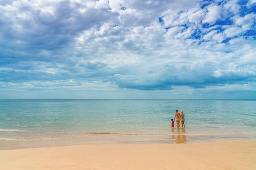 Beach, Family, Female, Women, Woman, Family On Beach