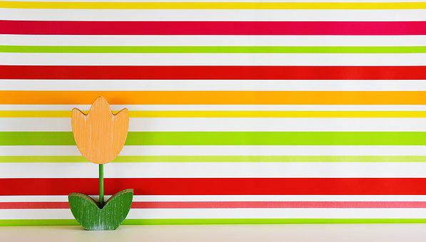 Tulip, Flower, Wood, Colorful, Background, Striped