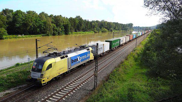 Danube, Freight Train, Bavarian Maximilian Track