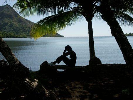 French Polynesia, Island Of Moorea, Atoll, Beach