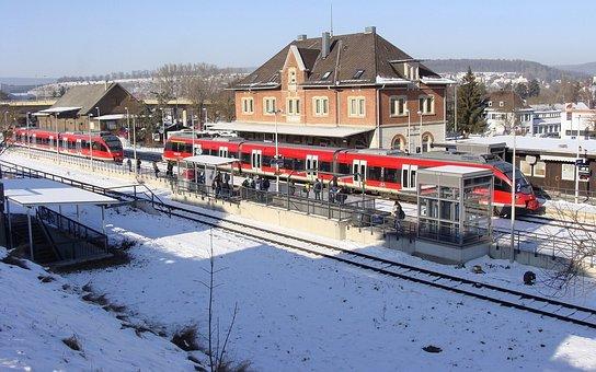 Br 644, Giengen, Railway Station, Brenz Railway