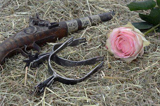 Pistol, Spores, Hay, Wild West, Freedom, Ride, Ornament