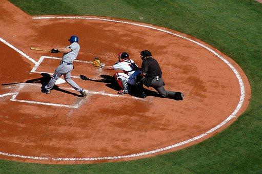Baseball, Home Plate, Umpire, Catcher, Batter
