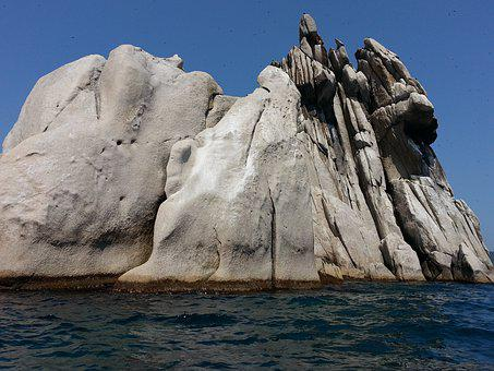 Triozere, Rock, Sea, Journey, Summer, Clear Sea, Island