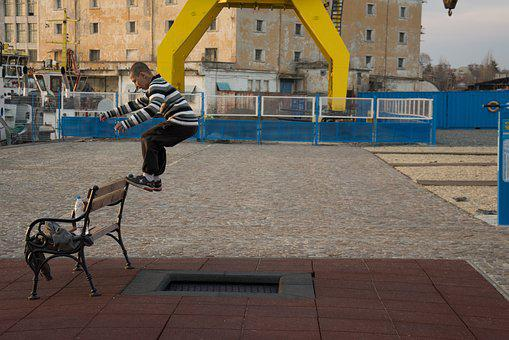 Urban, Jumps, Kids, Young, City, Person, Sport, Fitness