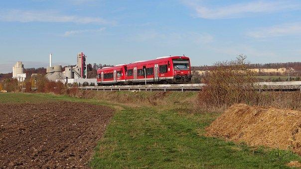 Mergelstetten, Vt 650, Brenz Railway, Kbs 757, Railway